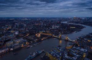 London drone view